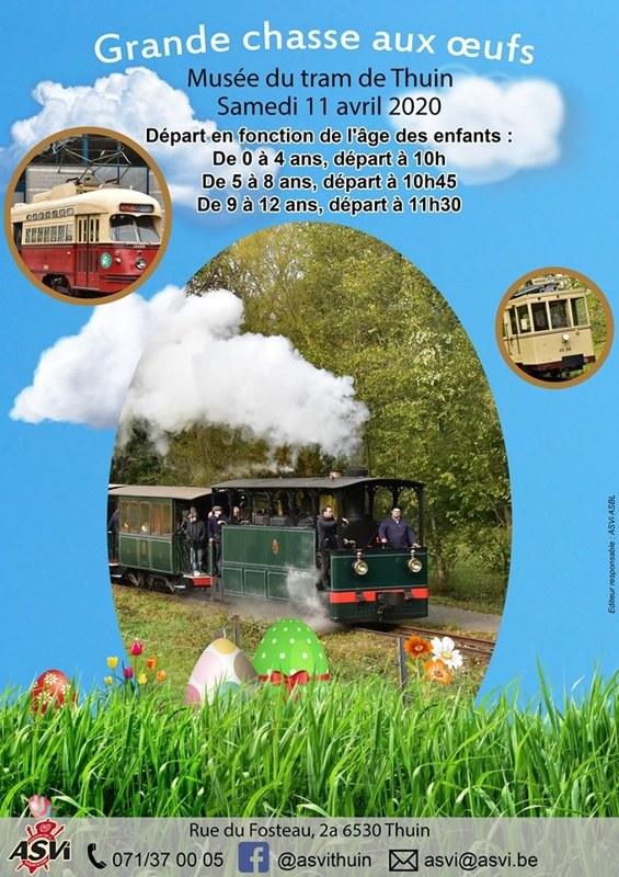 Chasse aux oeufs   musée du tram
