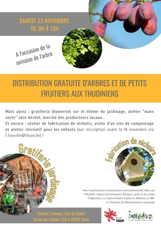 Distribution gratuite d'arbres fruitiers