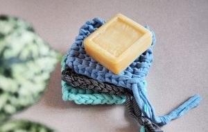 DIY tricoter éponge tawashi tricotée 300x190